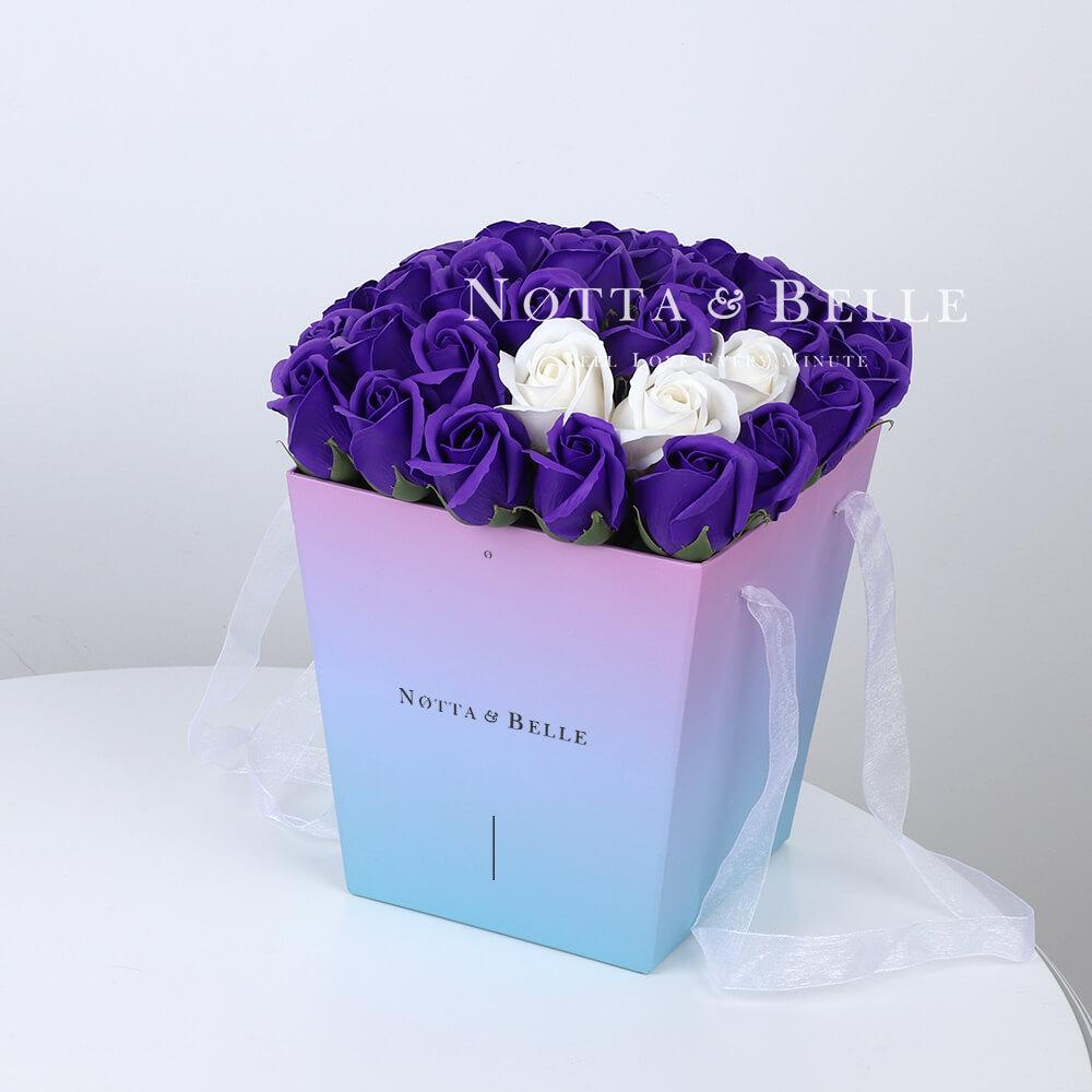 Мыльный букет лавандового цвета №371 из 35 розы