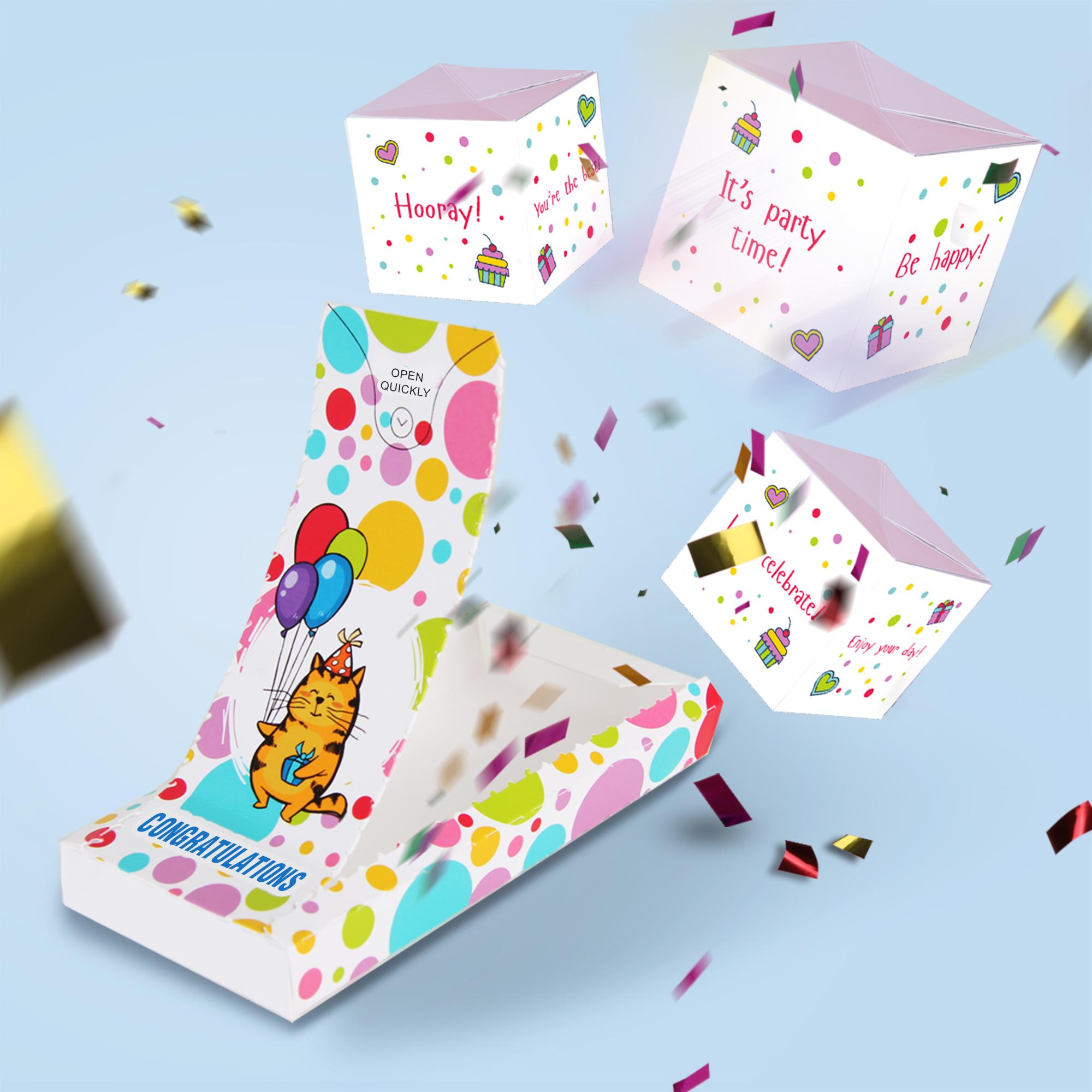Boom card - Congratulations (3 cubes)
