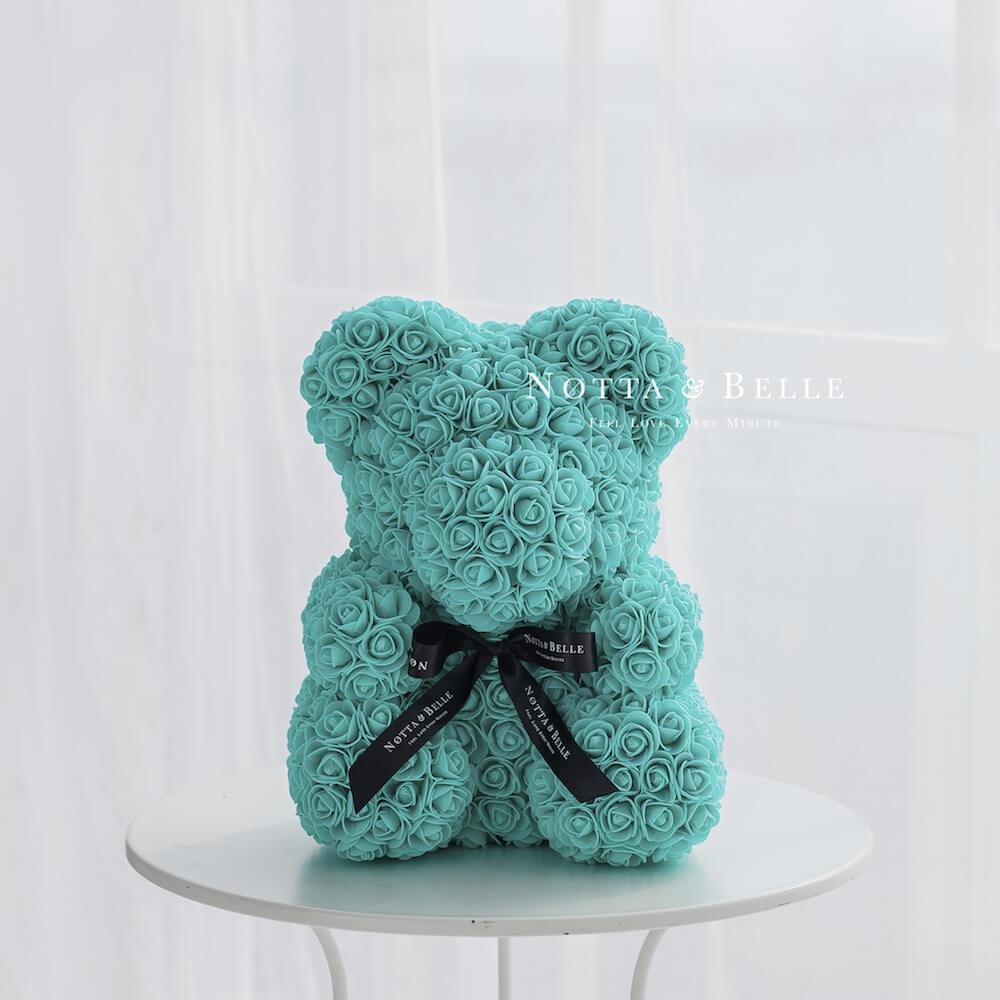 Türkis Bären aus den Rosen - 40 сm