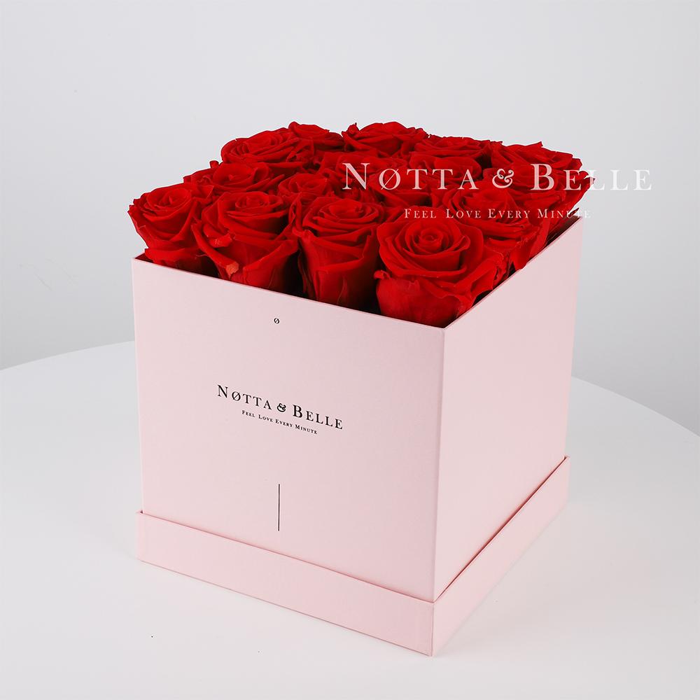 Долговечный букет из 17 красных роз - №415