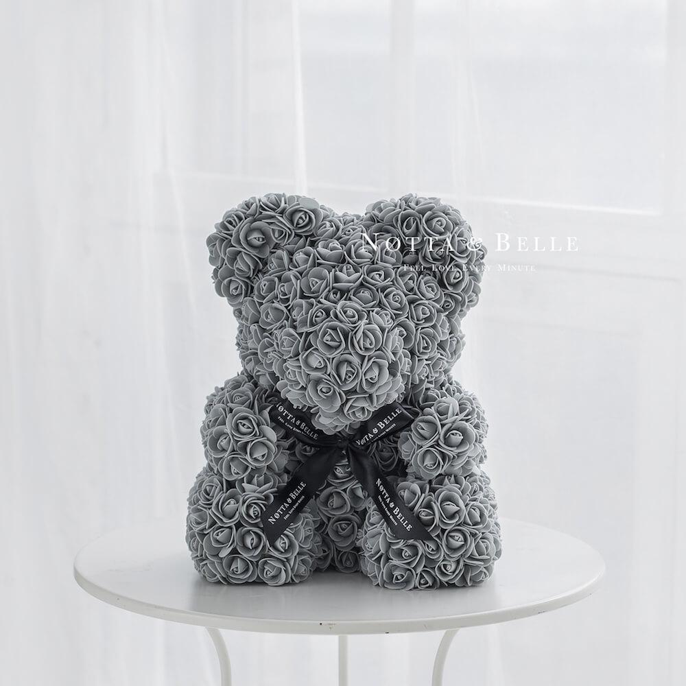 Серый мишка из роз - 40 см