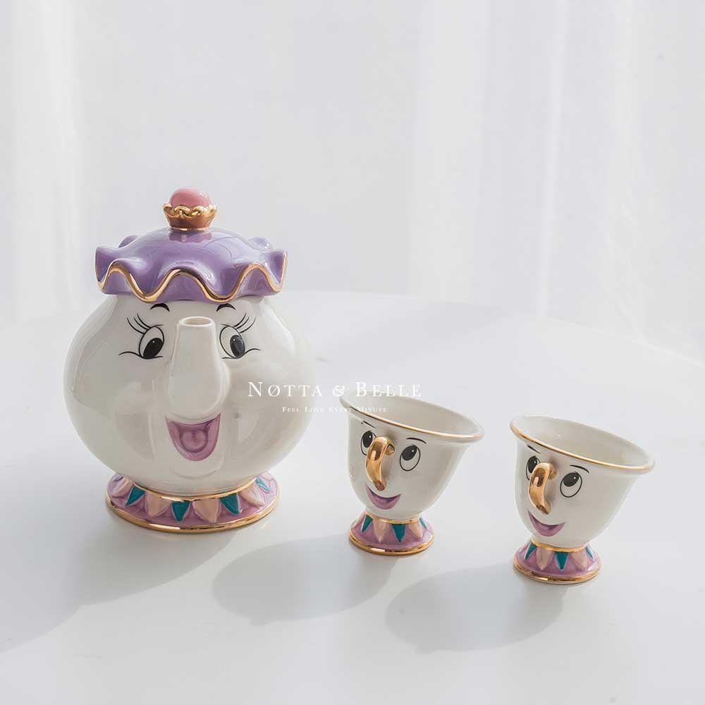 Чайный набор - «Красавица и чудовище» с 2 чашками