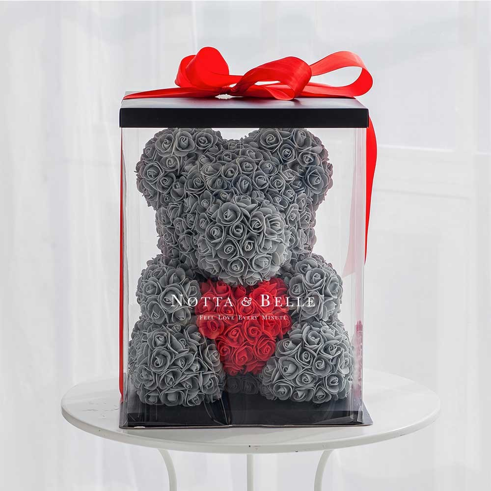Коробка для Мишки из роз