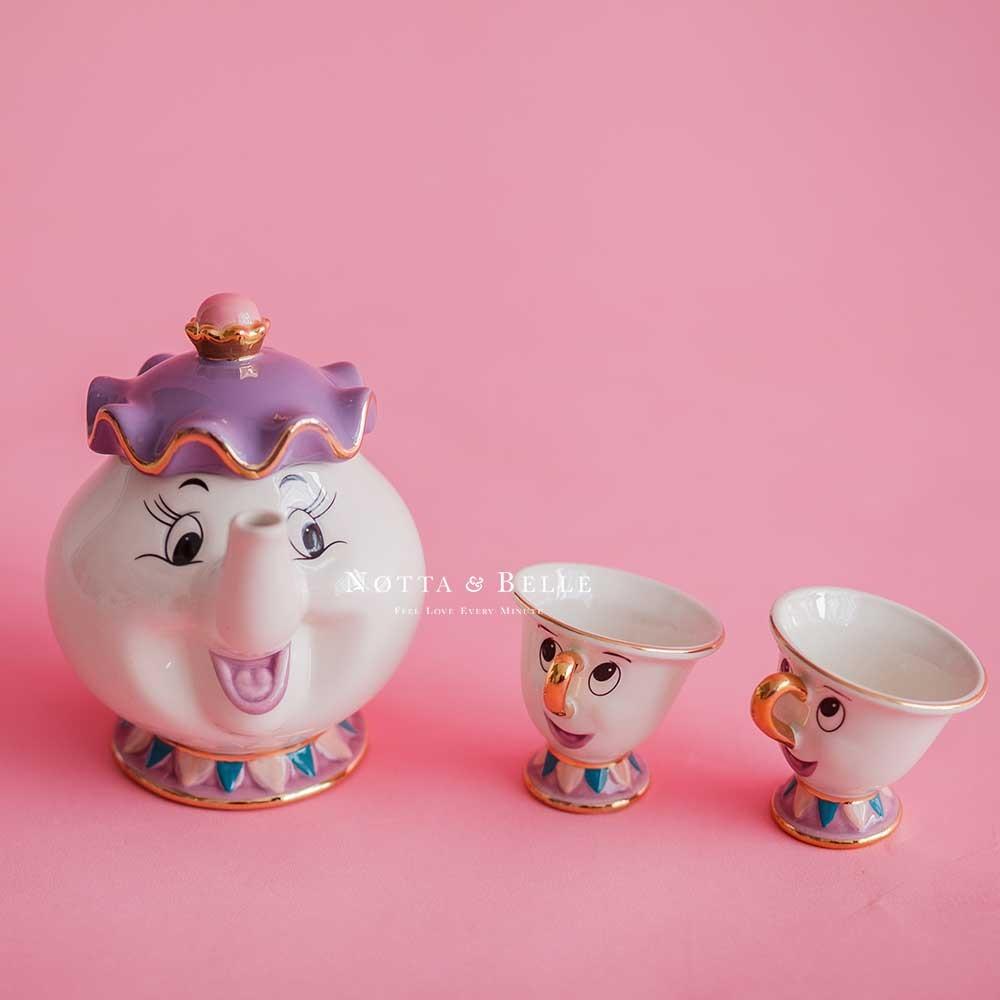 Чайный сервиз - «Красавица и чудовище» с 2 чашками