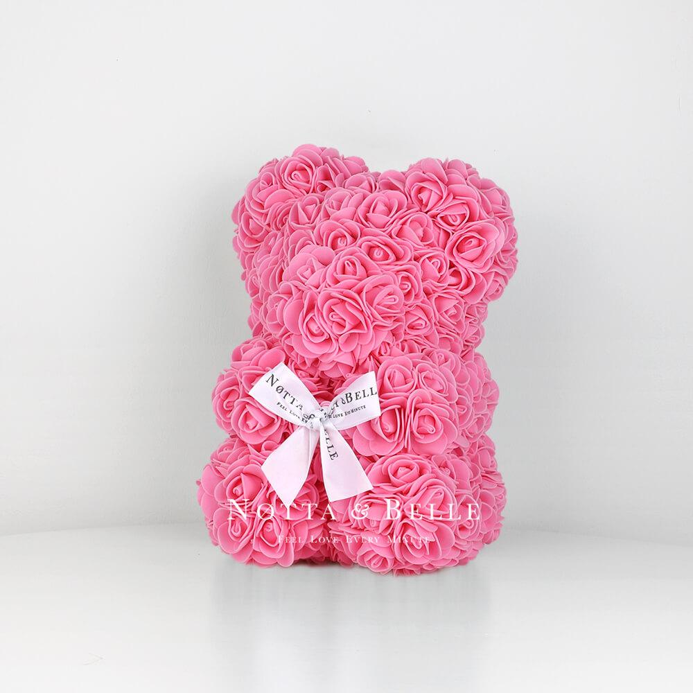 Rosa Bären aus den Rosen - 25 сm
