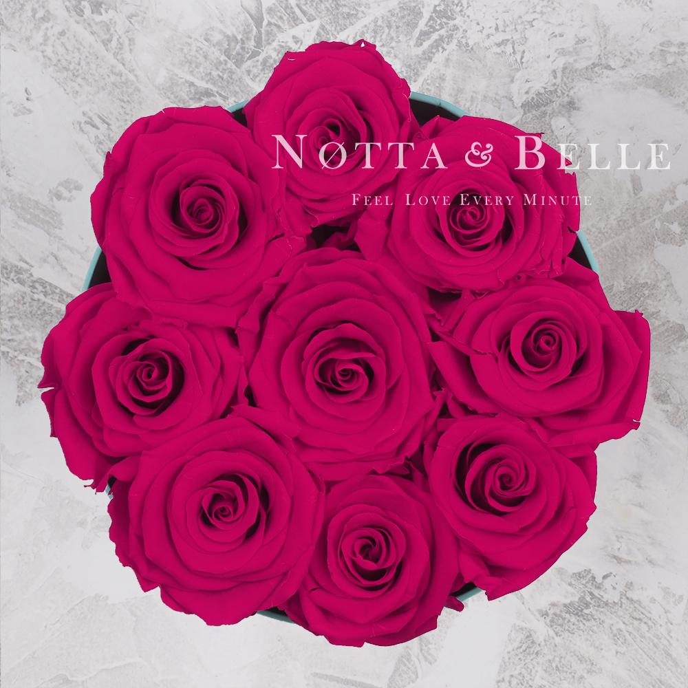 «Princess» aus 9 Rosen Farbe Fuchsia