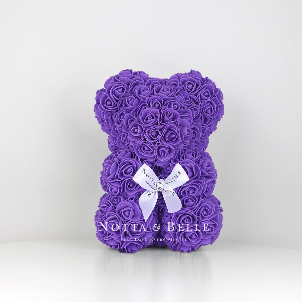 Purple Rose Bear - 10 in (25 cm)