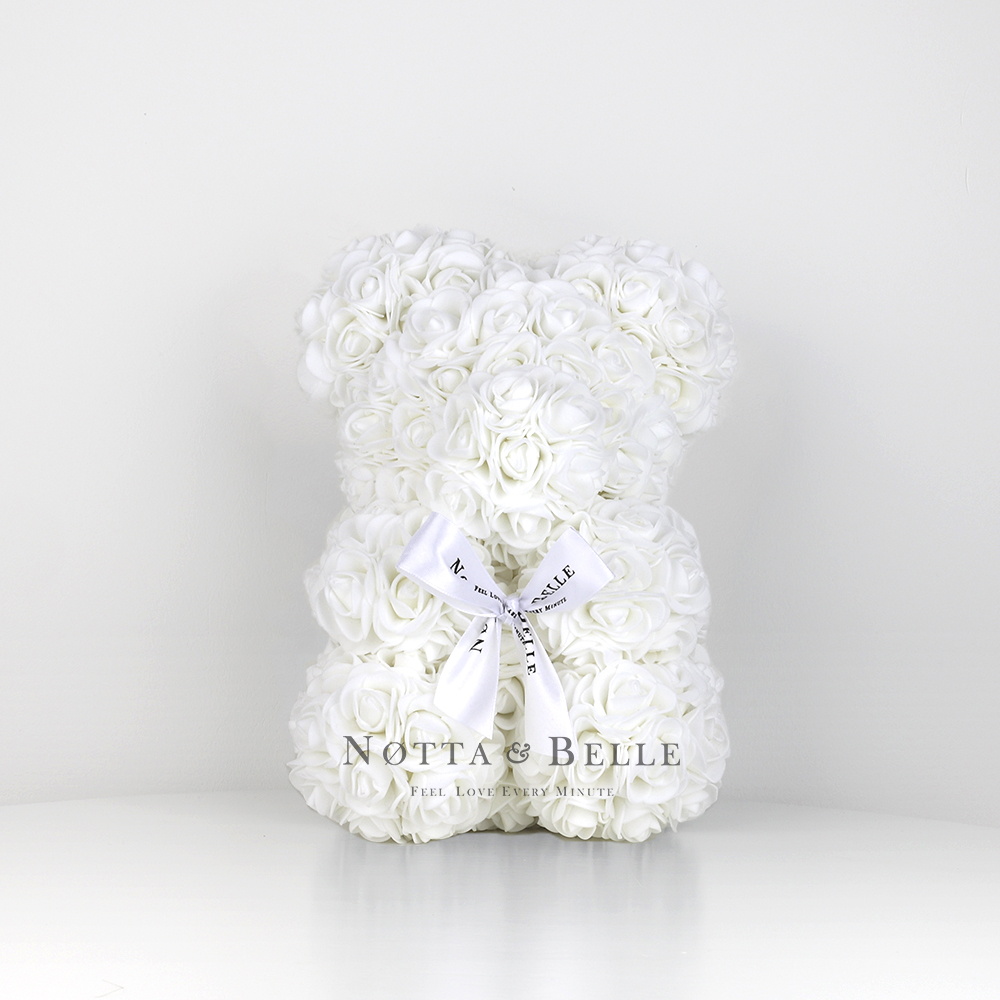 White Rose Bear - 10 in (25 cm)