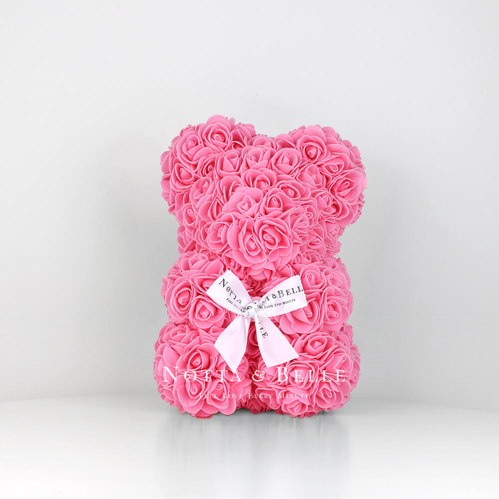 Pink Rose Bear - 10 in (25 cm)