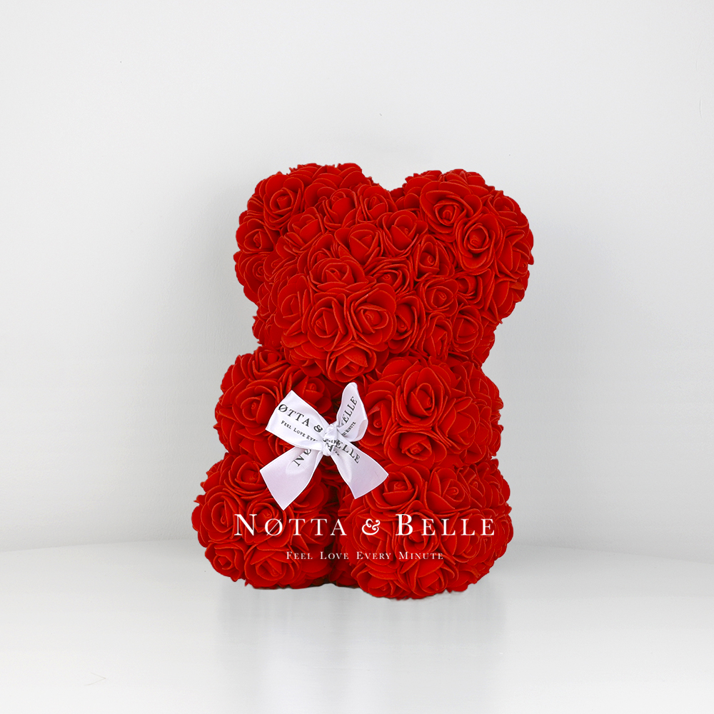 Red Rose Bear - 10 in (25 cm)