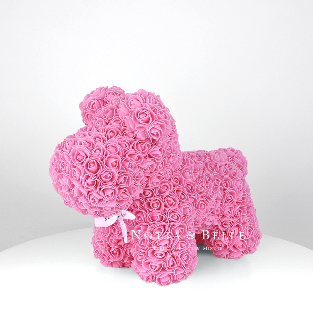 Pink rose puppy - 14 in. (35 cm)