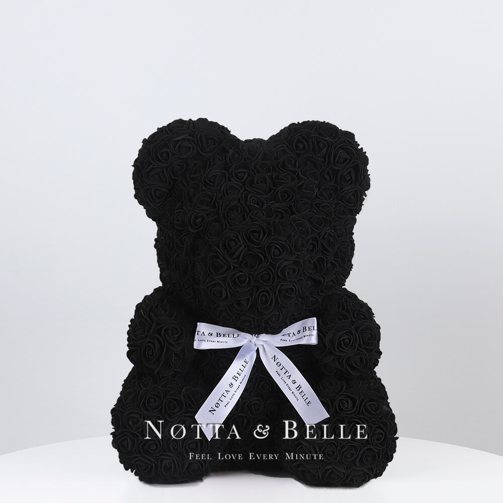 Black Rose Bear - 14 in. (35 cm)
