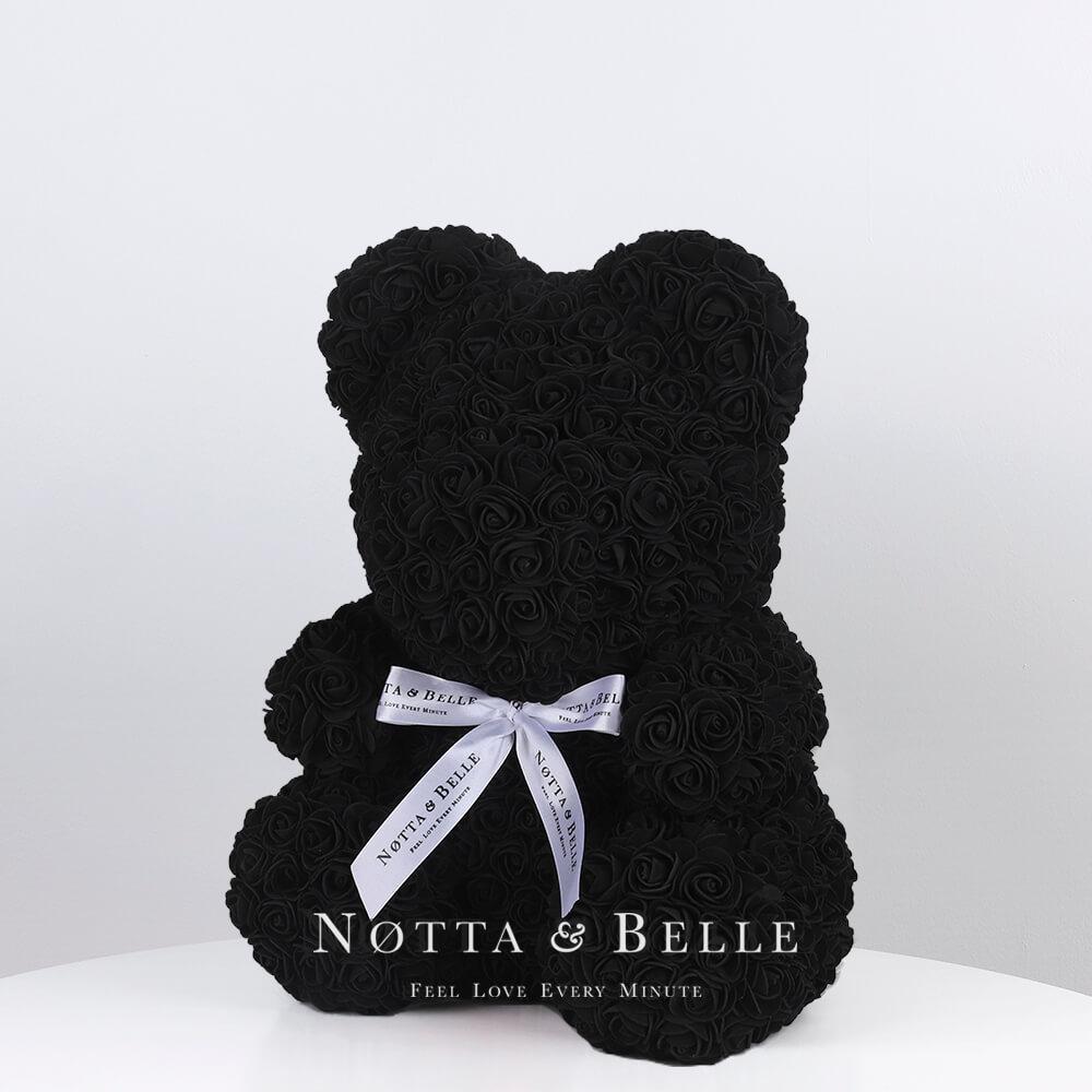 Orsetto di rose nera 35cm