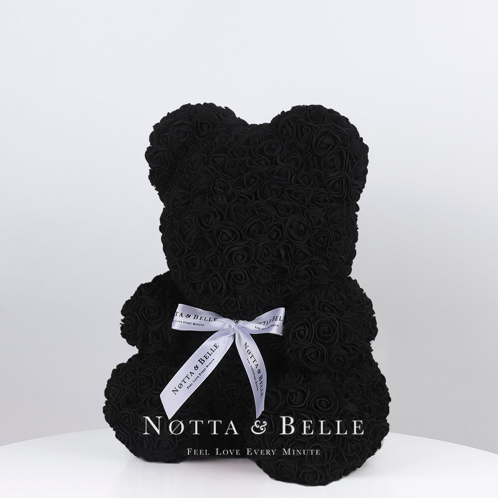 Oso de rosas Negra - 35cm
