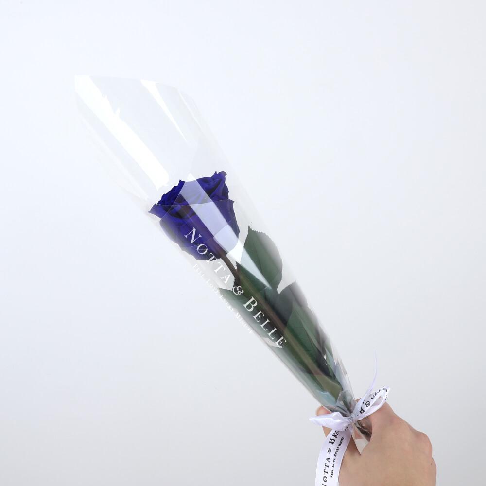 Синяя роза на стебле - Mini
