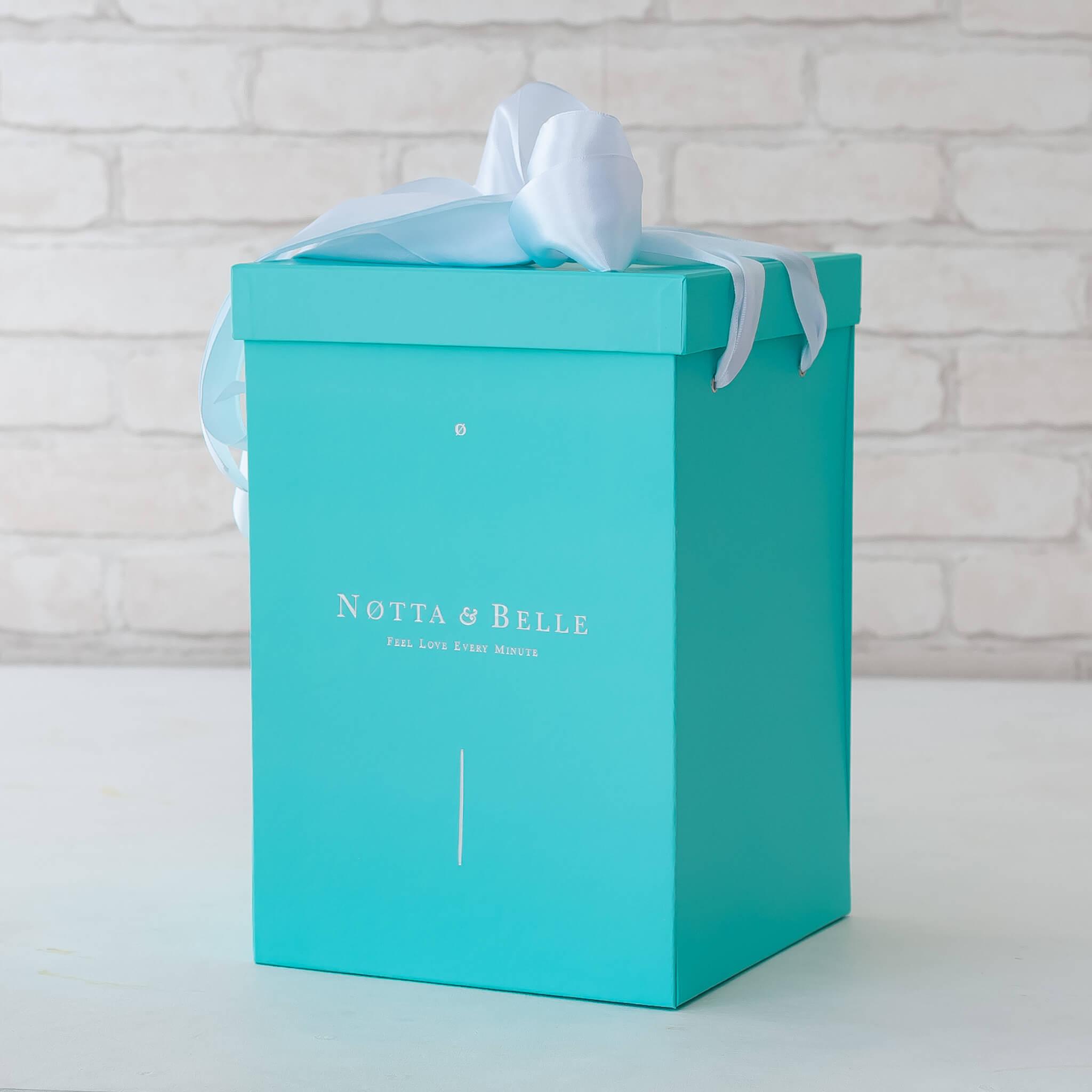 Бирюзовая коробка для розы в колбе