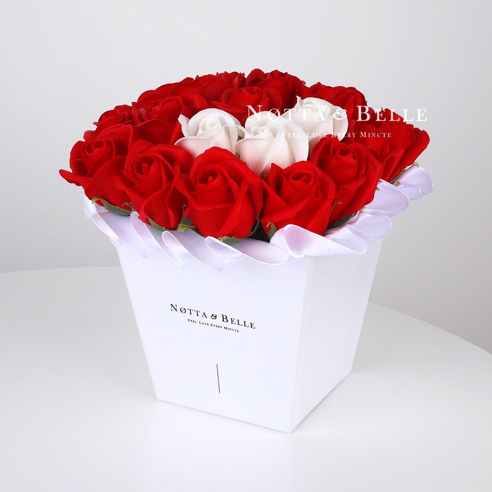 Mylynyy buket krasnogo cveta №211 iz 21 rozy