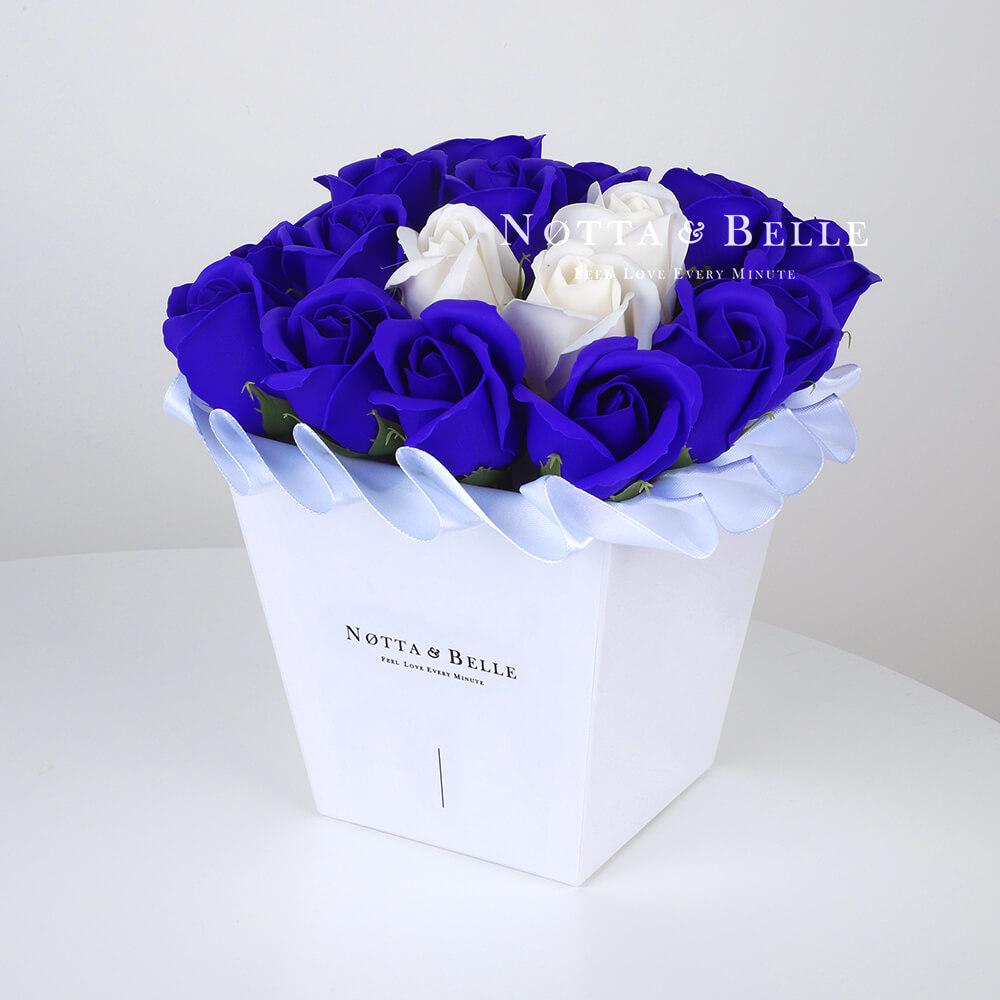 Mylynyy buket sinego cveta №231 iz 21 rozy