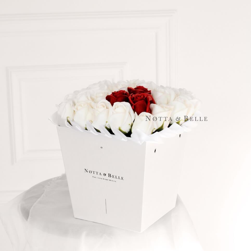 Мыльные розы белого цвета №441 White