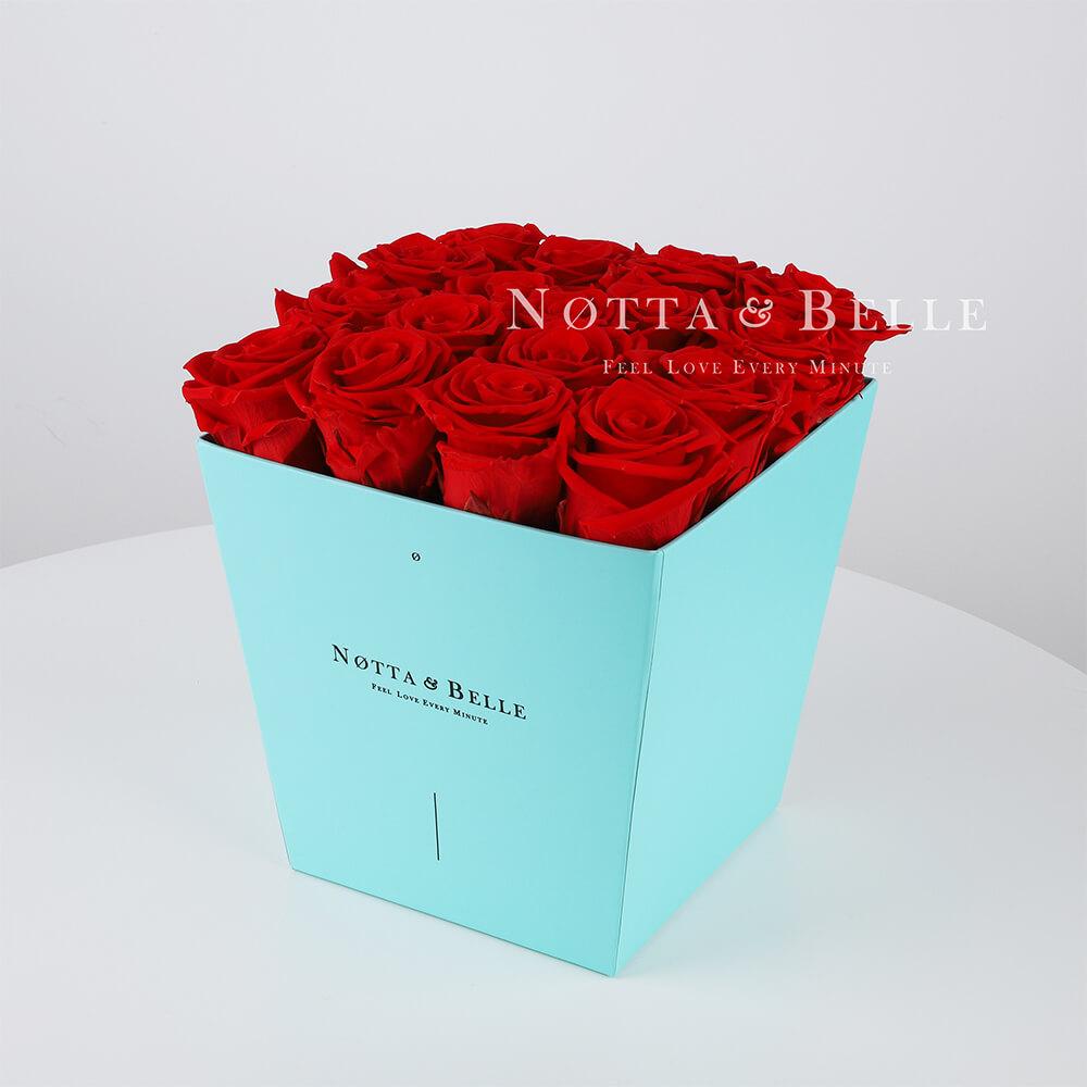 Долговечный букет из 17 красных роз - №213