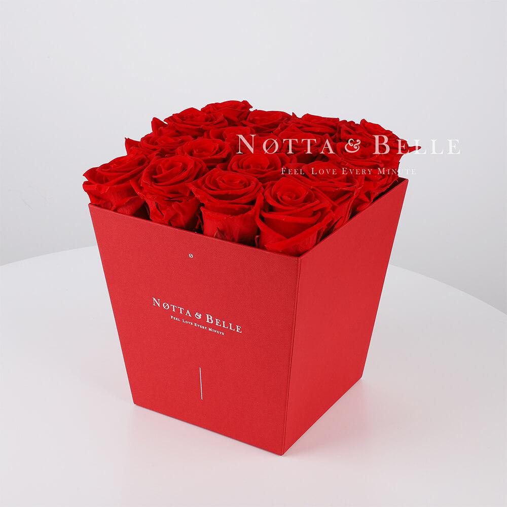 Долговечный букет из 17 красных роз - №214