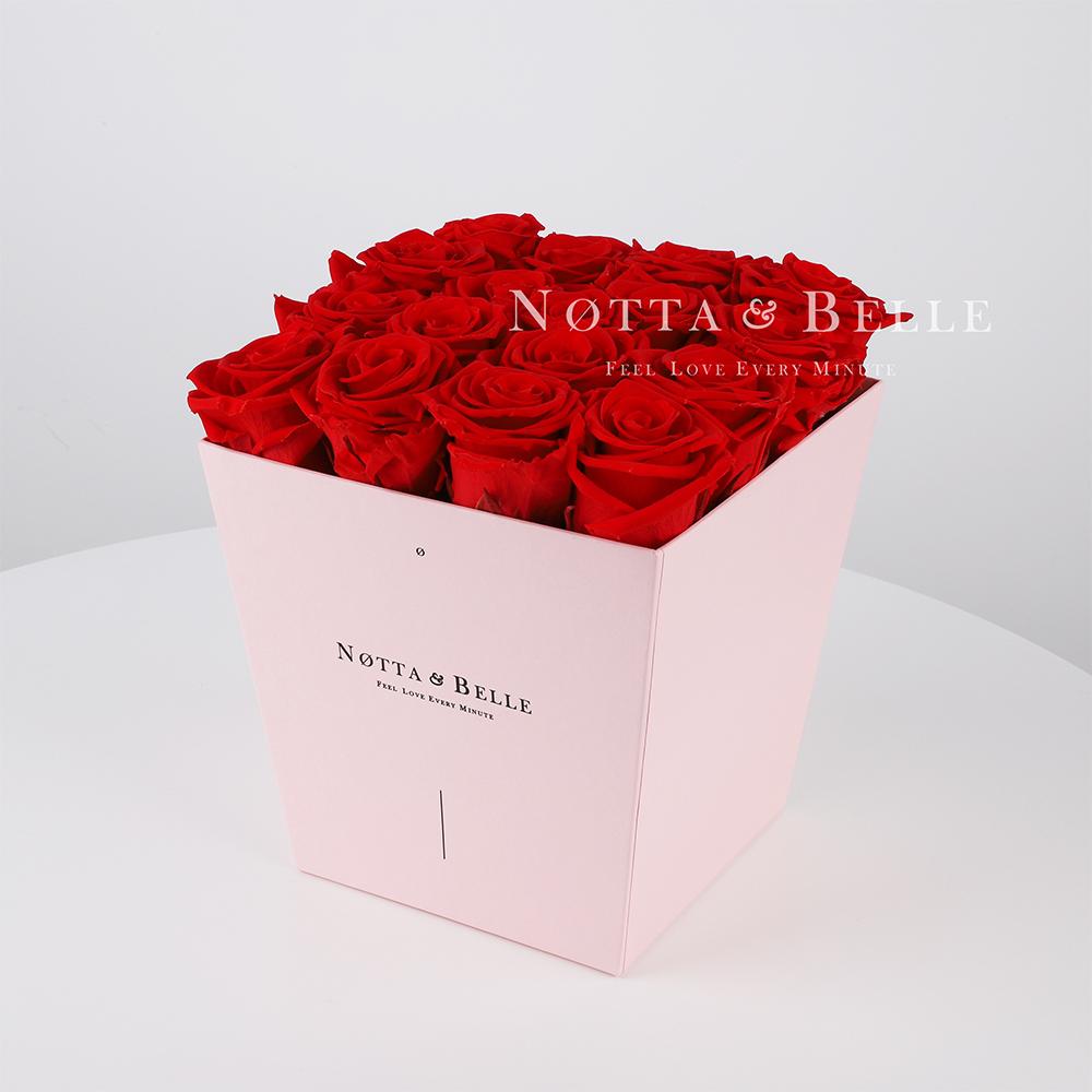 Долговечный букет из 17 красных роз - №215