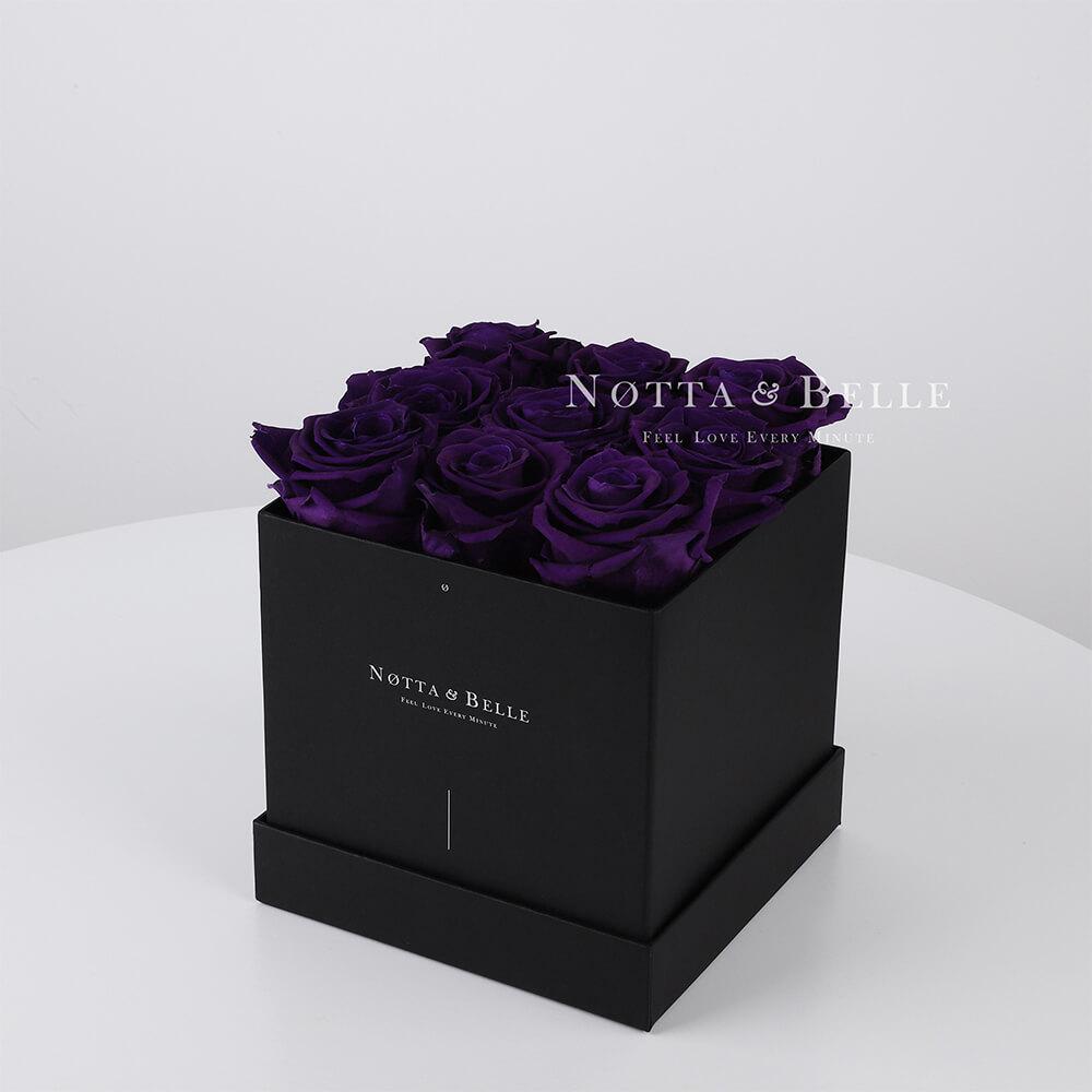 Долговечный букет из 9 фиолетовых роз - №352