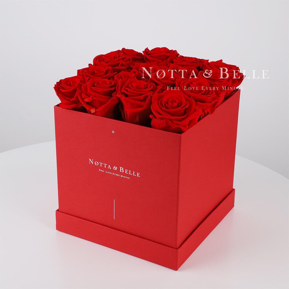 Долговечный букет из 17 красных роз - №414