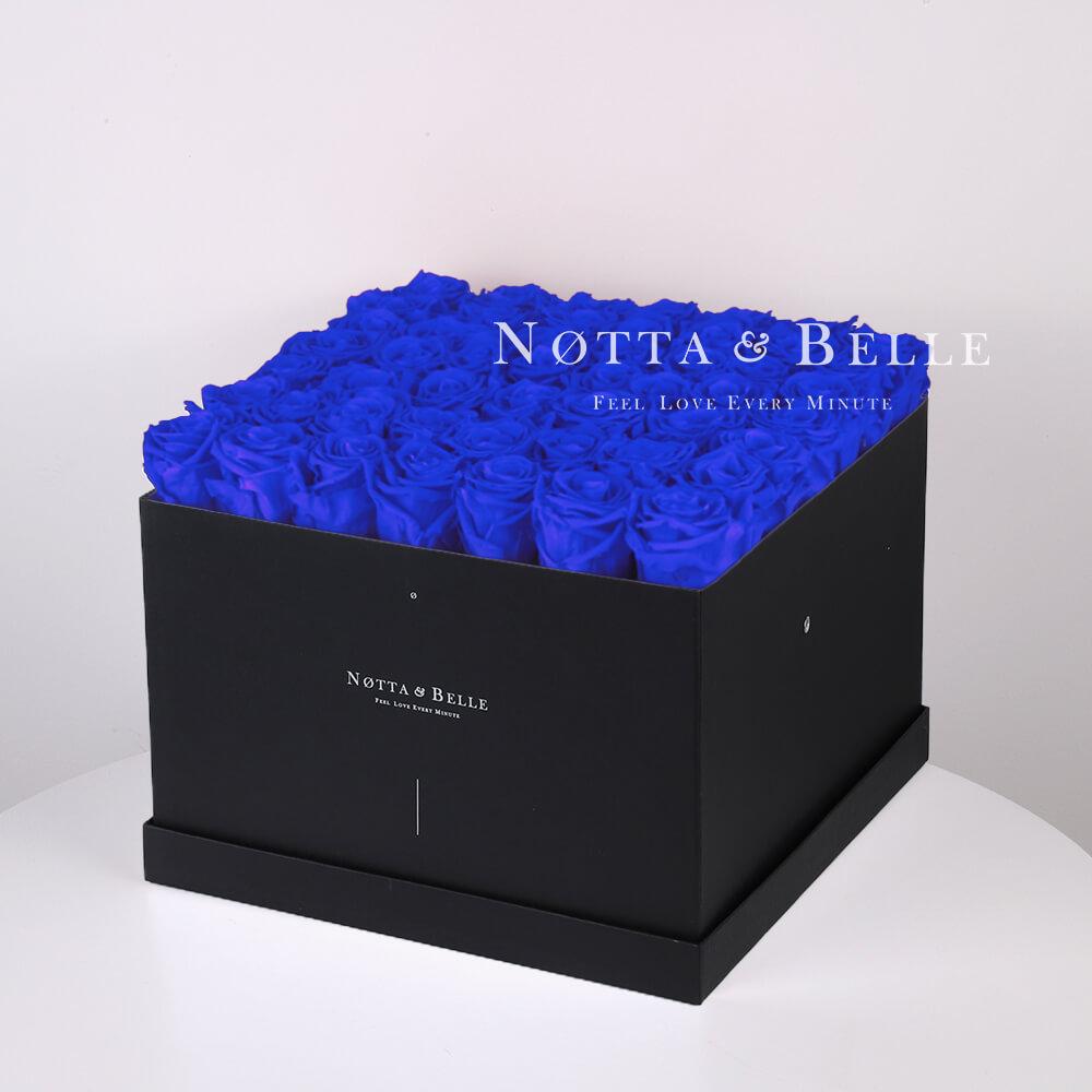 Долговечный букет из 49 синих роз - №732