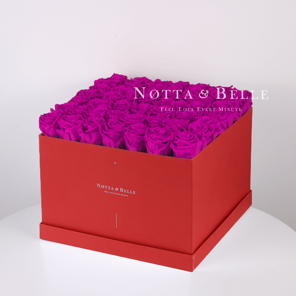 Долговечный букет из 49 роз цвета Фуксии - №774