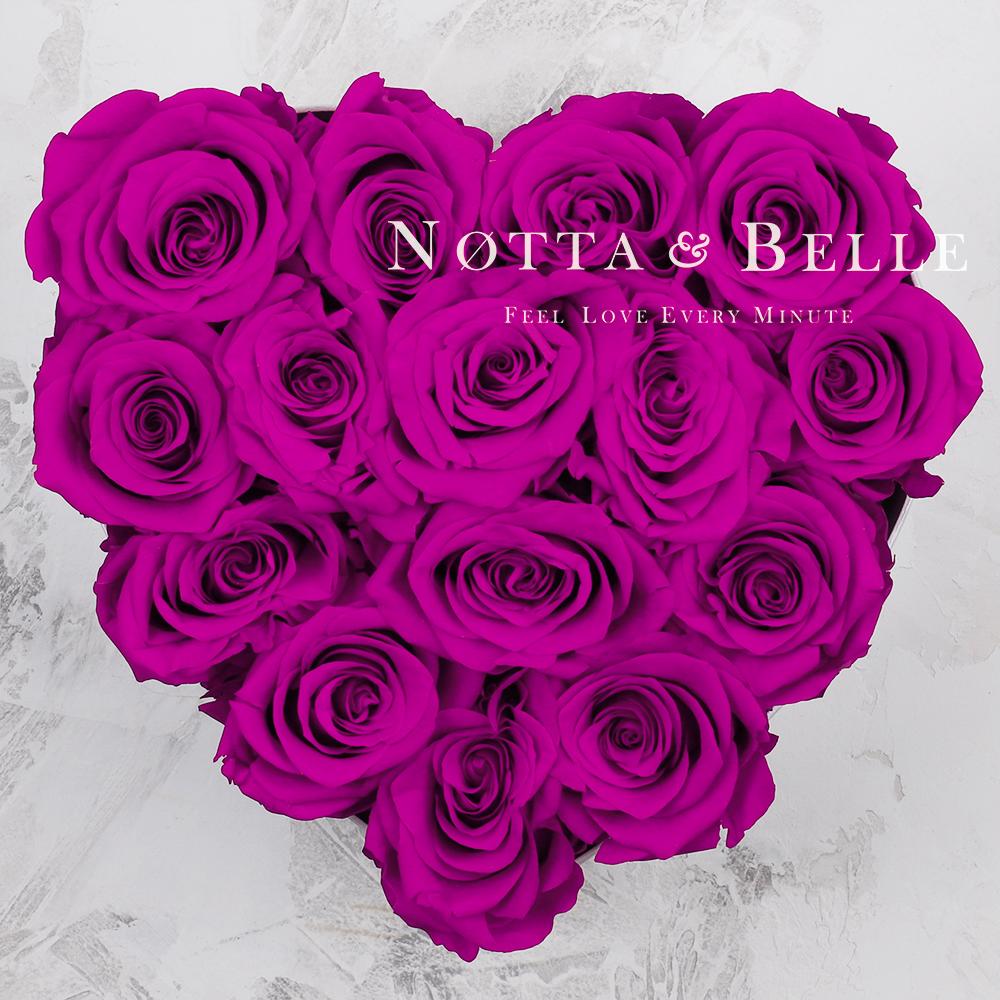 Долговечный букет из 15 роз цвета Фуксии - №871