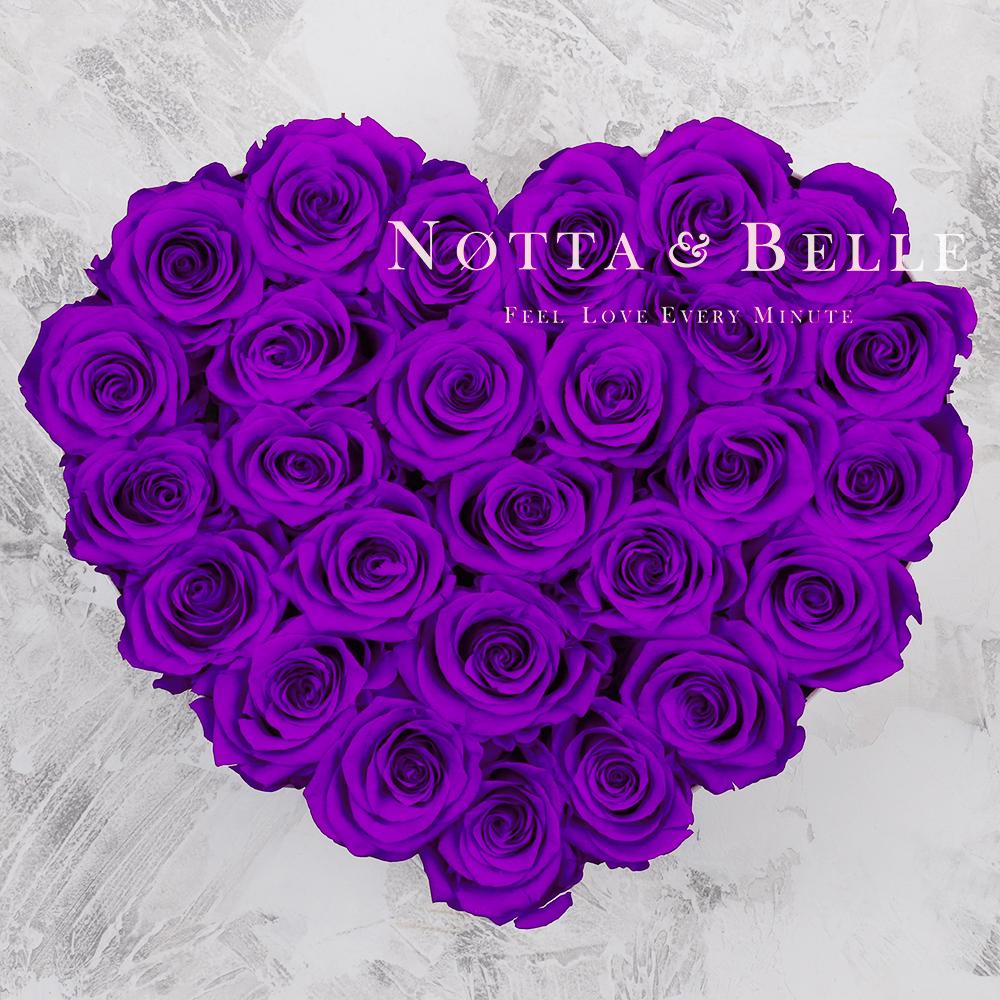 Долговечный букет из 27 фиолетовых роз - №952