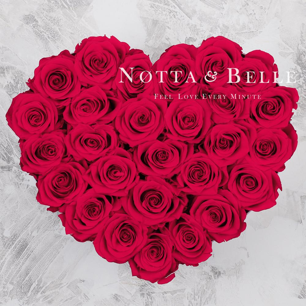 Долговечный букет из 27 ярко розовых роз - №962