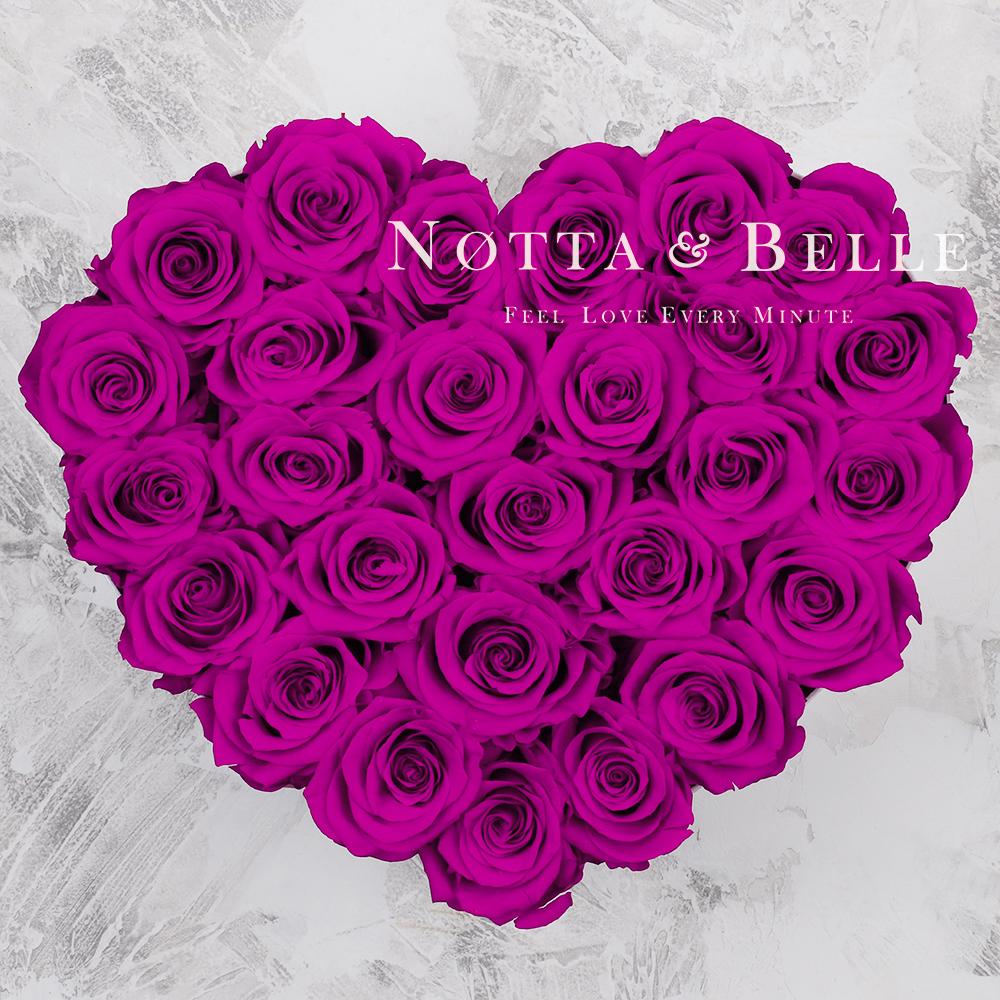 Долговечный букет из 27 роз цвета Фуксии - №972