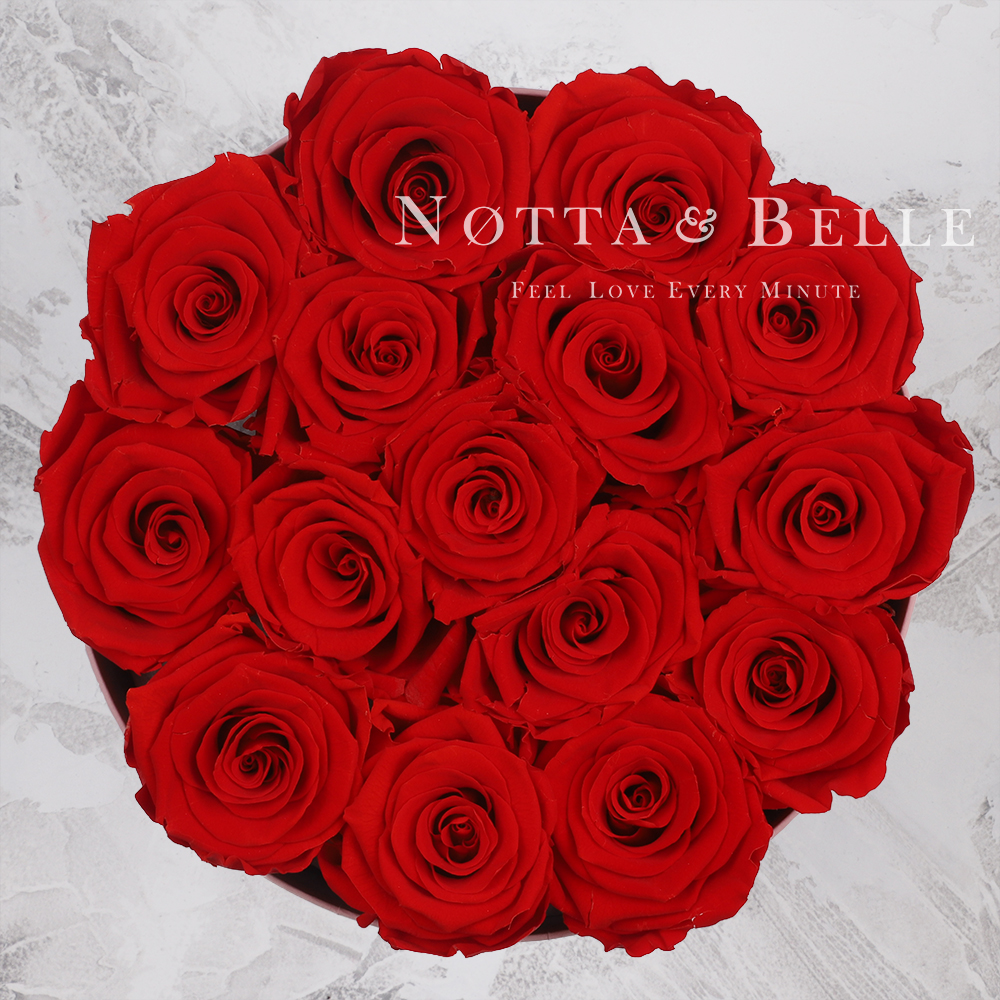 Долговечный букет из 15 красных роз - №1115