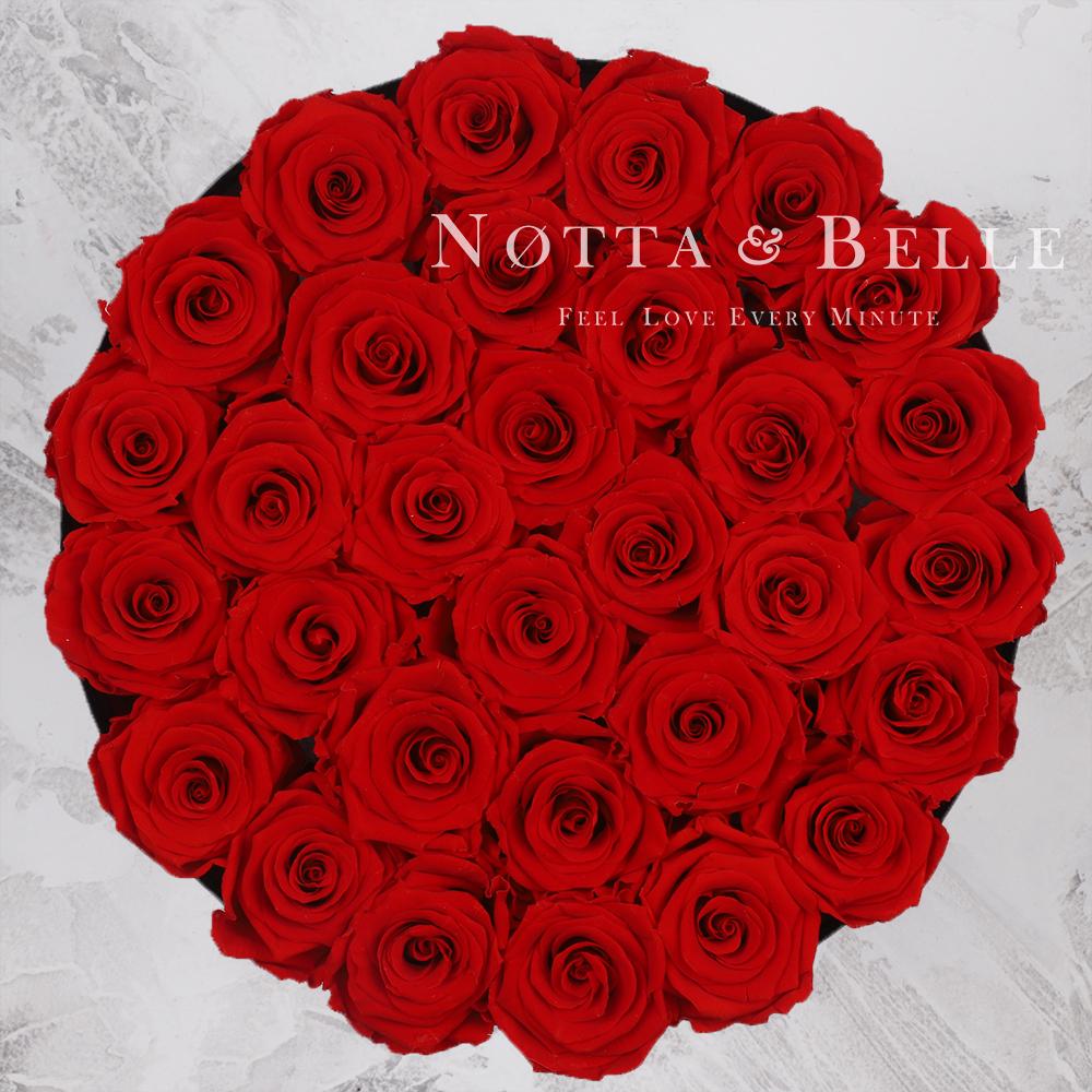 Долговечный букет из 29 красных роз - №1213