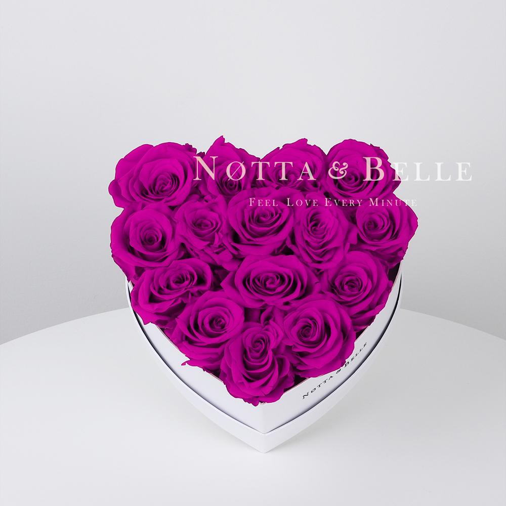 Fuchsia bouquet «Love» - 15 roses