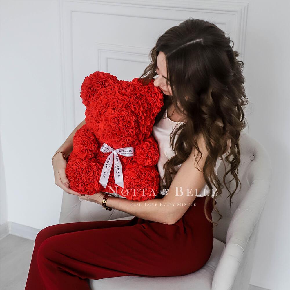 Rode Rozenbeer - 35cm