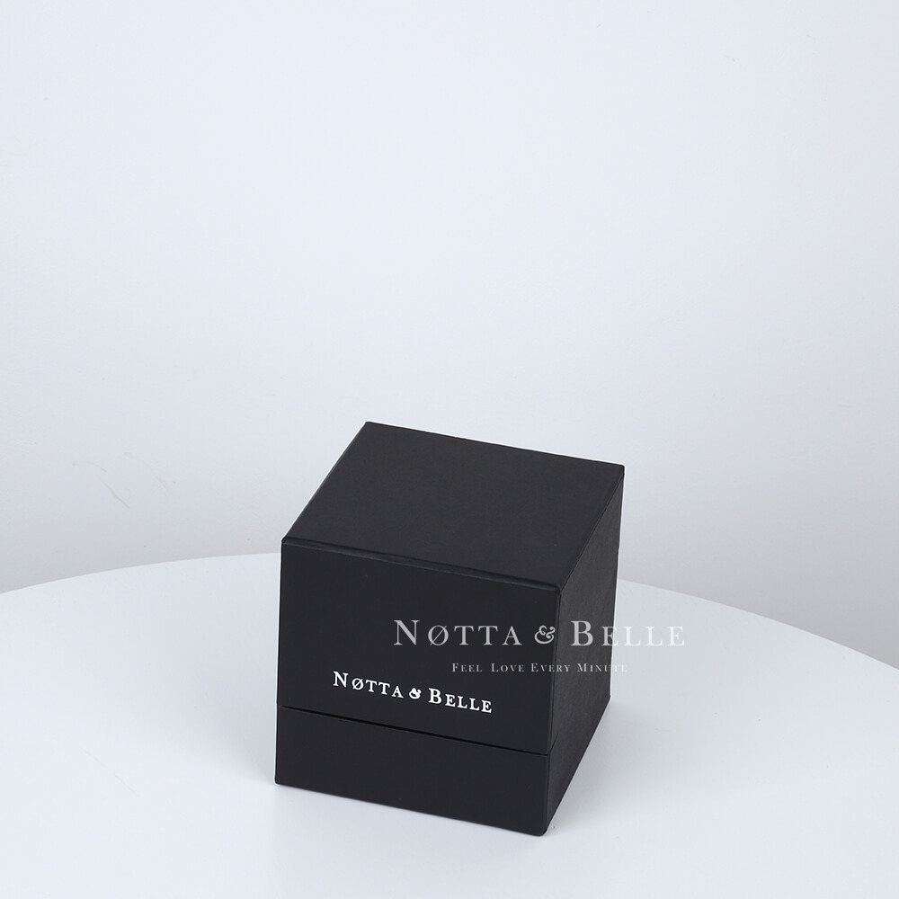Rose rouge dans une boîte noire Mini