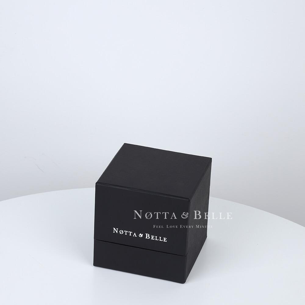 Rosa rossa in una scatola nera Mini