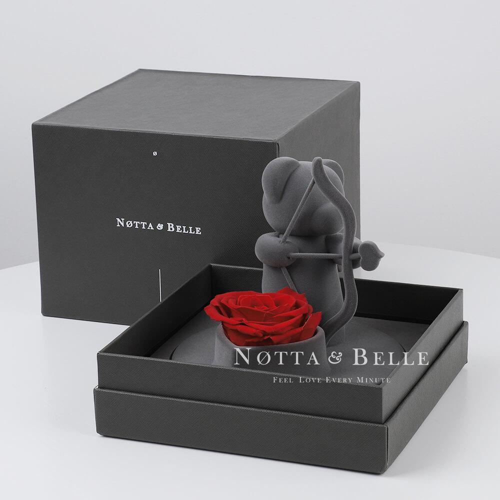 Ourson à la rose - Amour