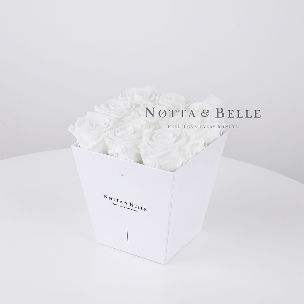 White bouquet «Forever» - 9 roses