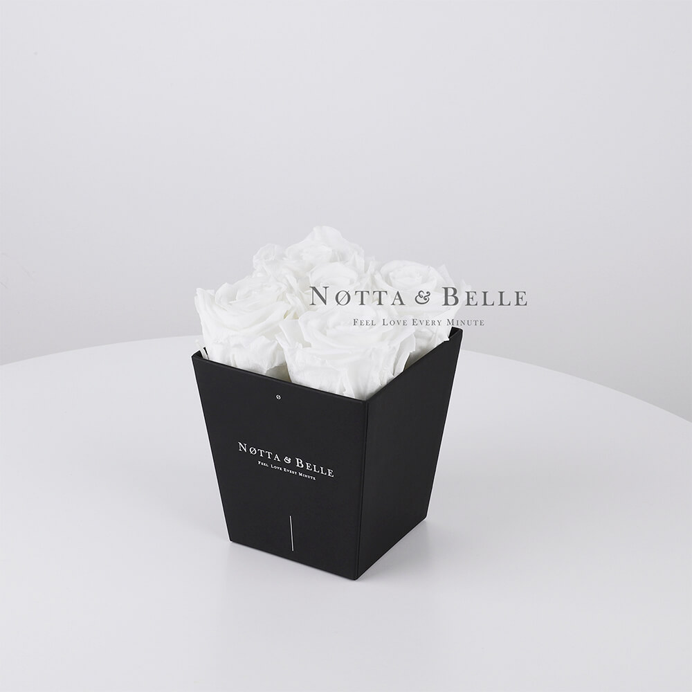 White bouquet «Forever» - 5 roses