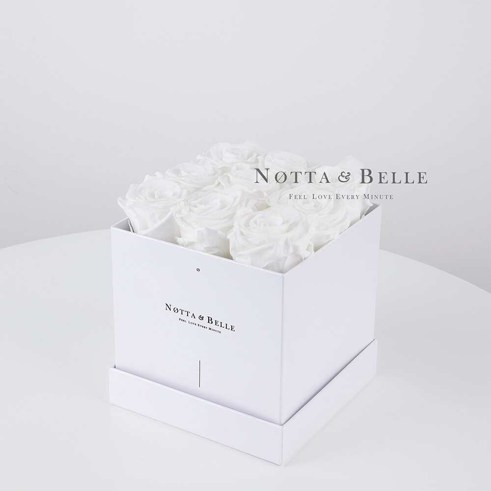 White bouquet «Romantic» - 9 roses