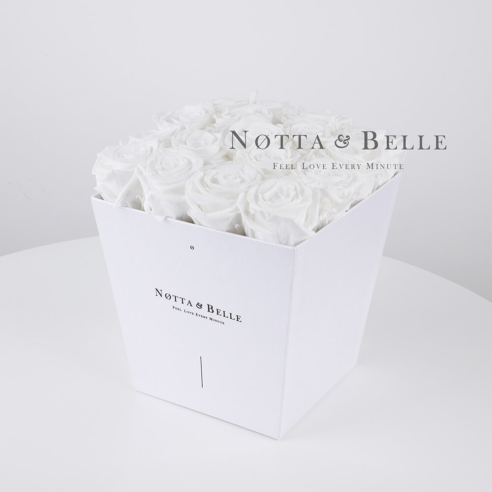 Bouquet blanche «Forever» - 17 roses