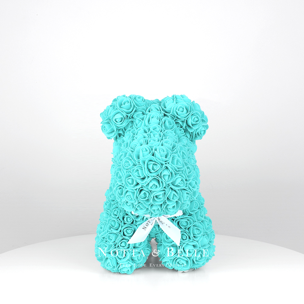 Turquoise rose puppy - 14 in.