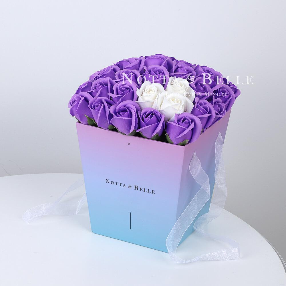 Мыльный букет лавандового цвета №351 из 35 розы
