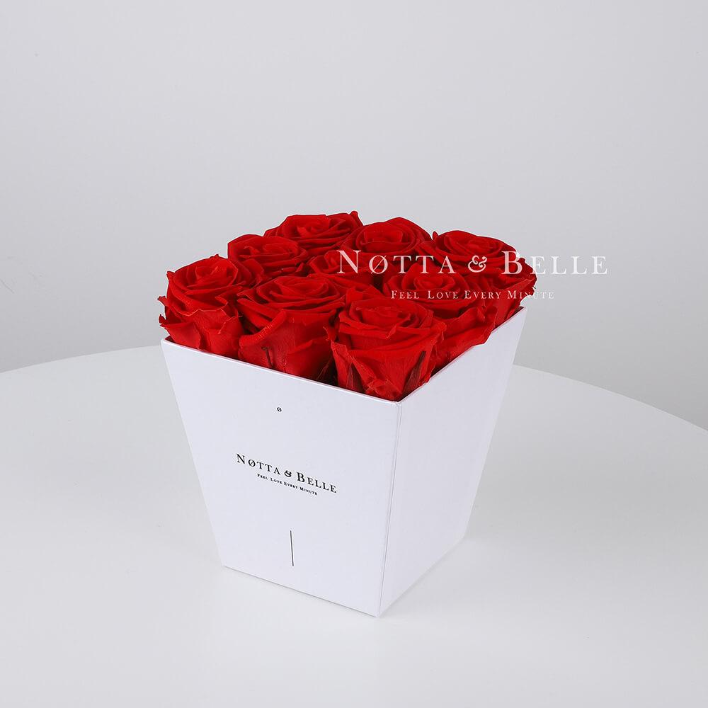 Долговечный букет из 9 красных роз - №111