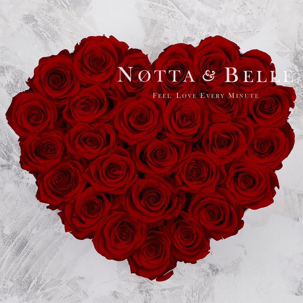 Burgundy bouquet «Love» - 27 roses