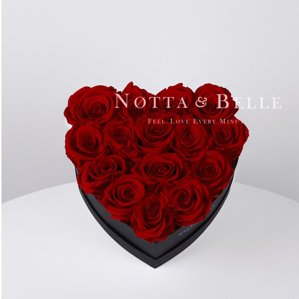 Bouquet satin lie de vin «Love» - 15 roses
